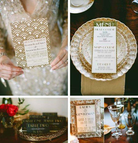 Gatsby-themed wedding