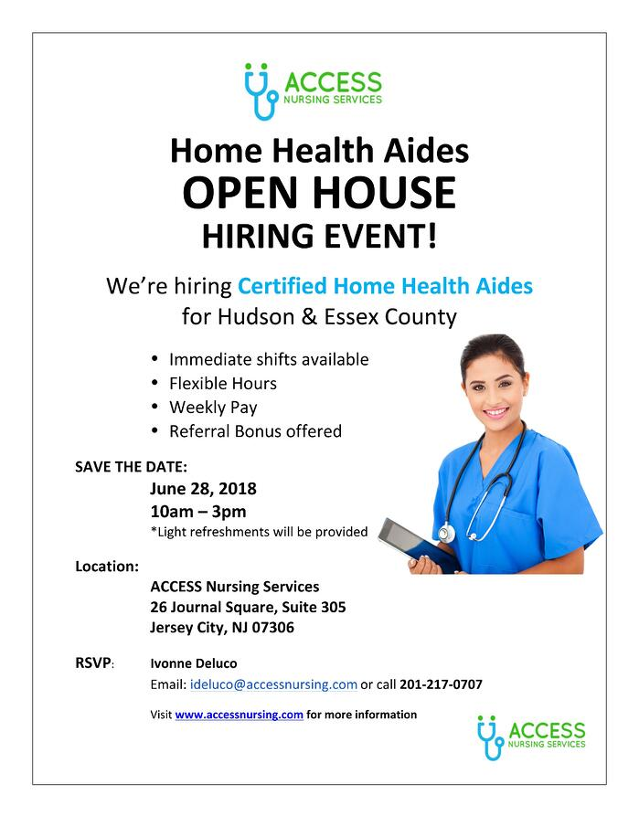 Home Health Aides Open House Hiring Event