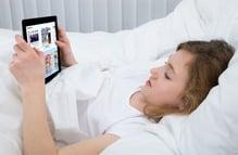 Girl using SPARK Media Print in Hospital