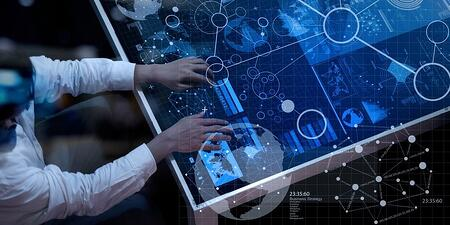 top view of businessman hand working with modern technology and digital layer effect as business strategy concept-483298-edited