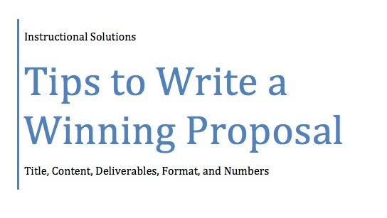 Writing up a business proposal
