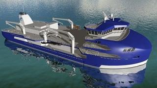 Worlds largest wellboat_illustration byMøre Maritime AS & Frøy Rederi AS