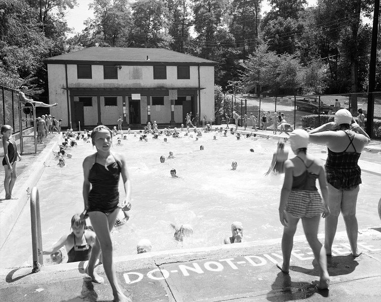 Sheraden Park Pool, circa 1934. Photo courtesy Archives Service Center at the University of Pittsburgh.