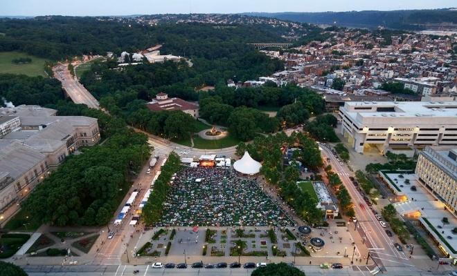 Aerial image of Schenley Plaza