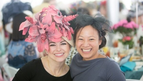 Image of two women in hats