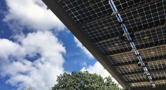 Image of solar panels at the Environmental Center