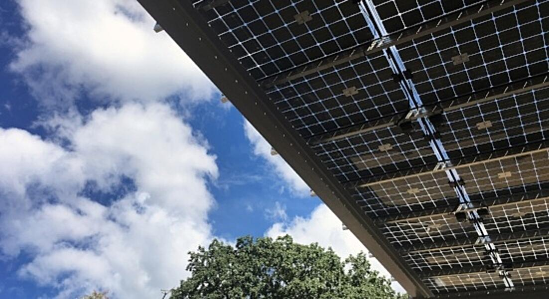 Image of solar panels at the Environmental Center