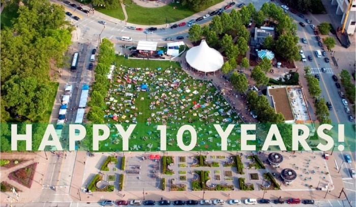 Get out the party hats, Schenley Plaza is turning 10!