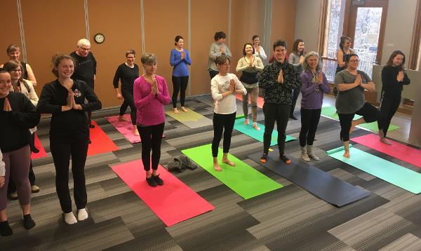 Image of yoga at the Frick Environmental Center