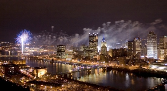Image of fireworks over Pittsburgh. Image by michael righi