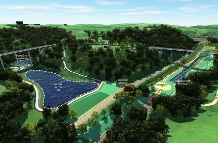 Rendering of plans for Schenley Park