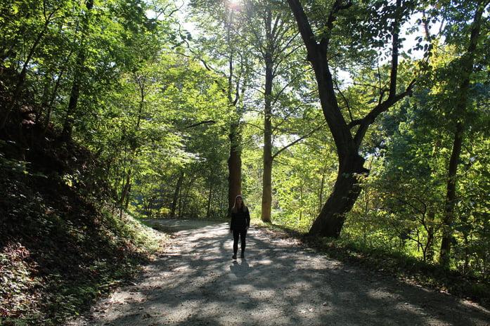 julie-walking