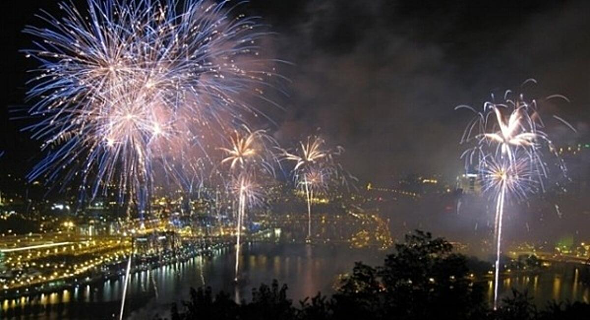 Image of fireworks in PIttsburgh