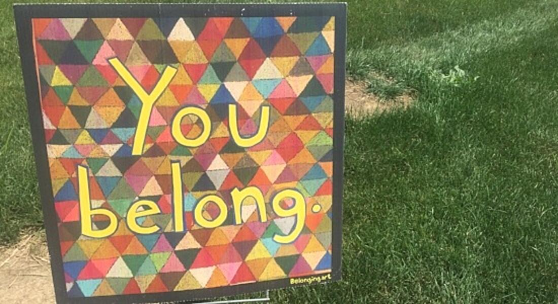You belong sign