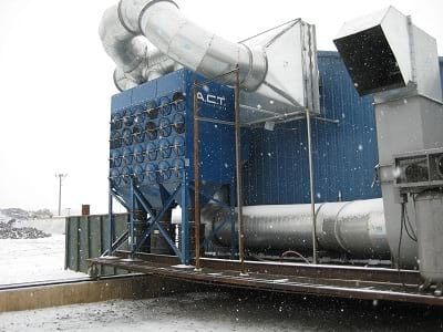 Metalworking Dust Collector Contains Smoke for Metal Recycling Customer