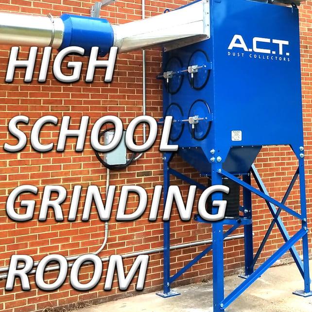 金属加工集尘器清除弗吉尼亚高中的空气