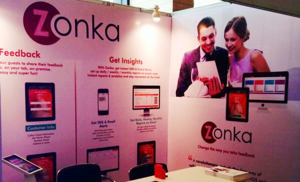 Zonka Feedback exhibits at Indian Restaurant Congress 2014 by Franchise India