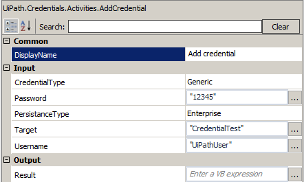 how to add credential in windows xp