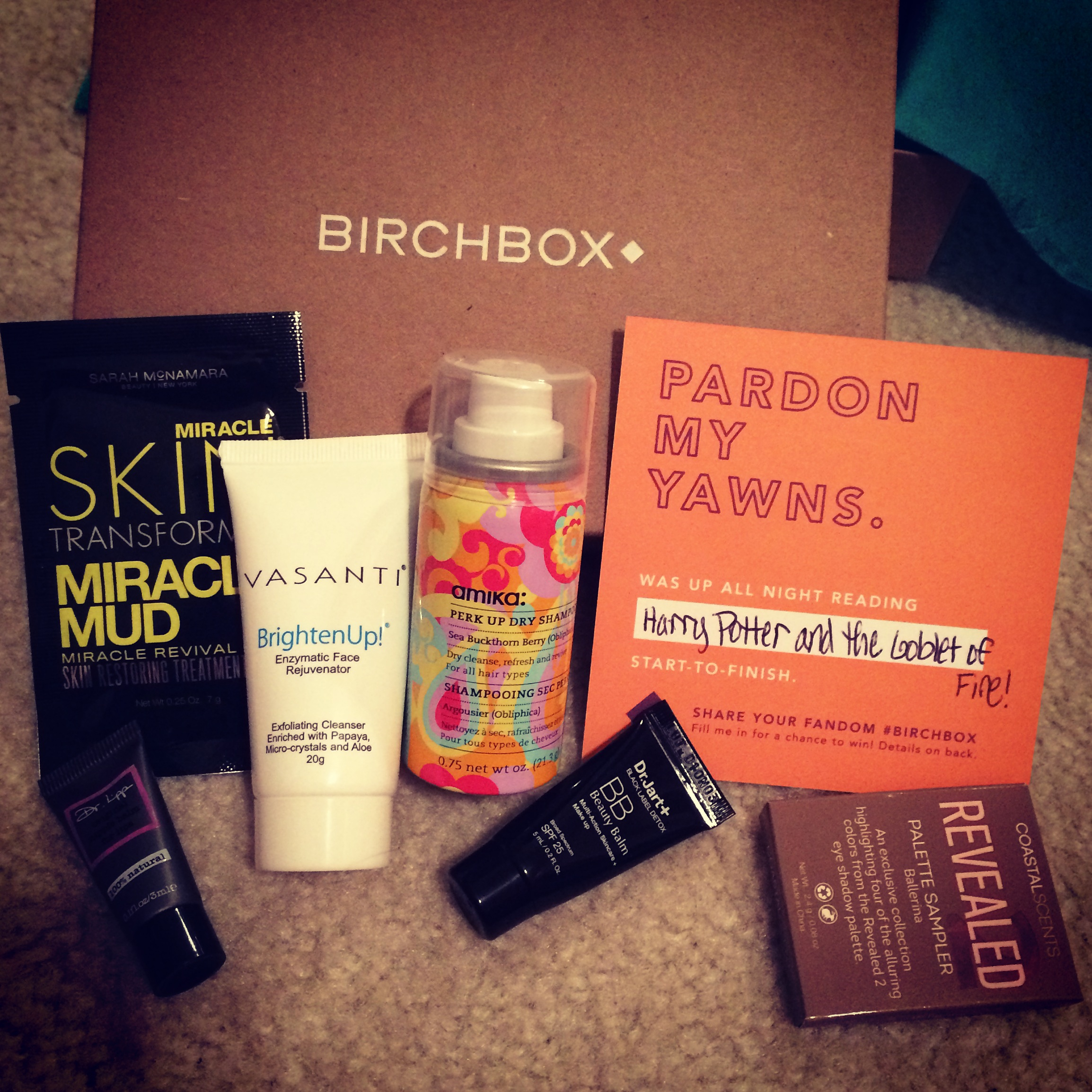 Contents of a Birchbox