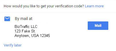 Get Verification Code for Google Plus Listing