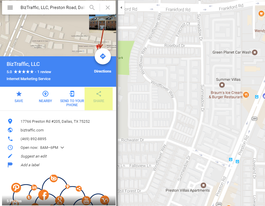 Local SEO Google Maps Directions