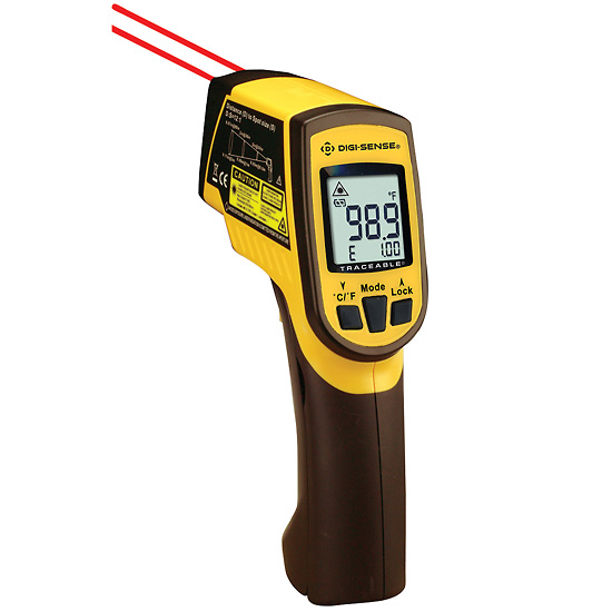 photo of infrared thermometer measurement tools for energy audits and rcx