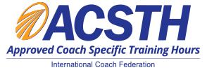 ICF ACSTH coach training program