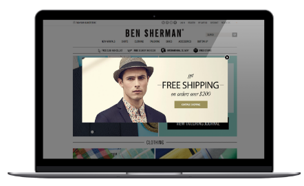 BEN SHERMAN free delivery campaign