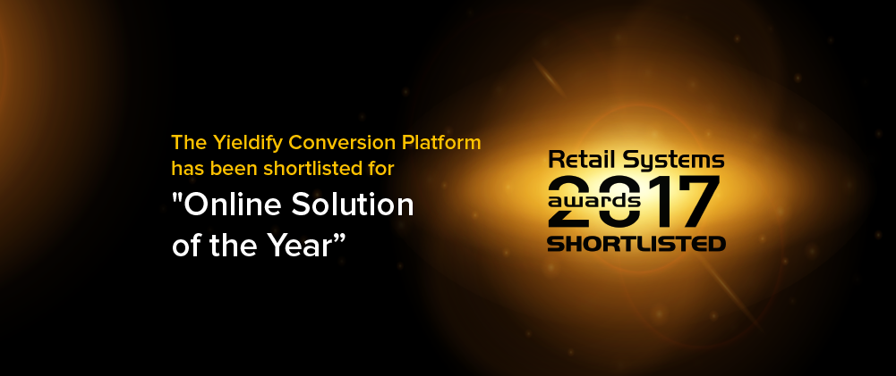 Yieldify shortlisted for Retail Systems award