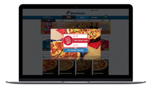 Domino's Pizza average order value campaign