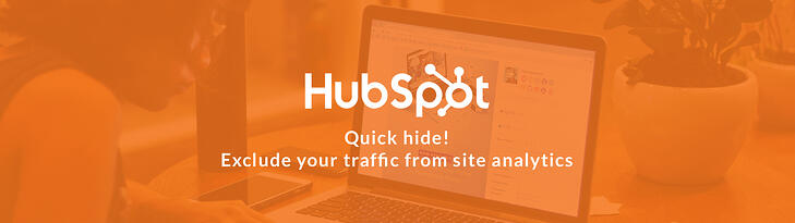 Quick hide! Exclude your traffic from site analytics