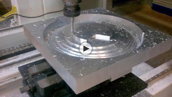 Thermwood Mastercam Solidworks Walkthrough Machining Aluminum Shield on 5 Axis Model 90