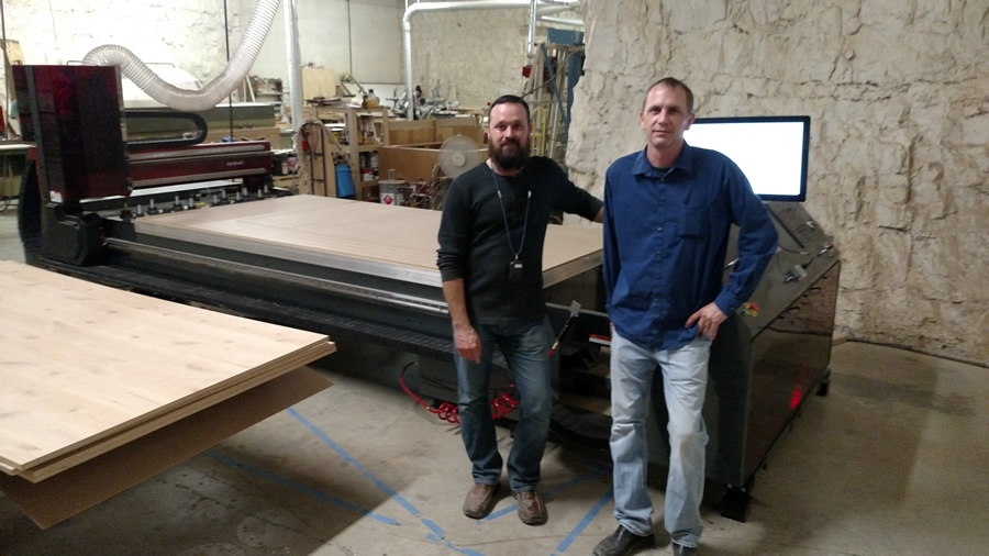 Jody Wilmes and the Donovan Mumma of Byrne Custom Woodworking and their new Thermwood Cut Center