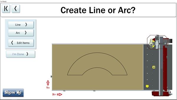 轻松创建直线或弧线在自定义切割菜单上的瑟姆伍德切割中心