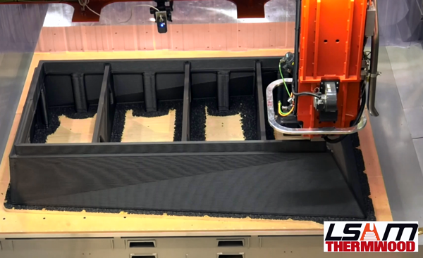 Thermwood LSAM 10'x20' Printing and Trimming Concrete Mold out of Carbon Fiber-filled ABS