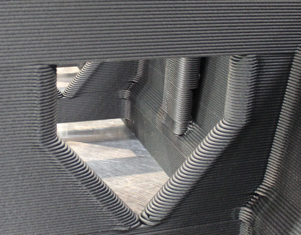 Complex part printed on Thermwood's LSAM