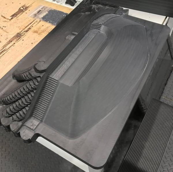 LSAM ABS演示部件显示为印刷(粗切和成品表面)