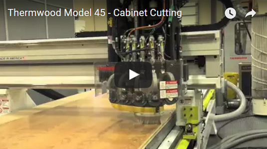 Thermwood Model 45 cabinet cutting