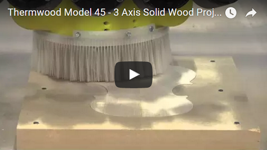 Thermwood Model 45 machining a variety of solid wood projects