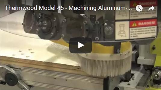 Thermwood Model 45 machining aluminum skinned plywood