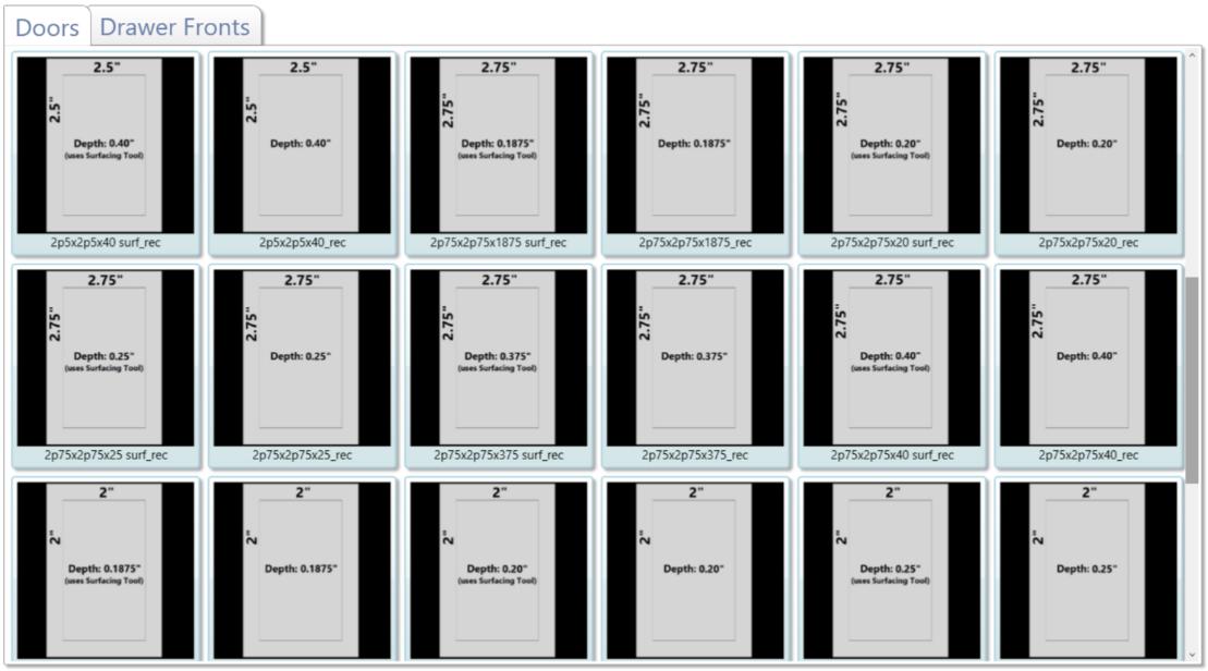 已经添加了600多个新的门和抽屉前定义。