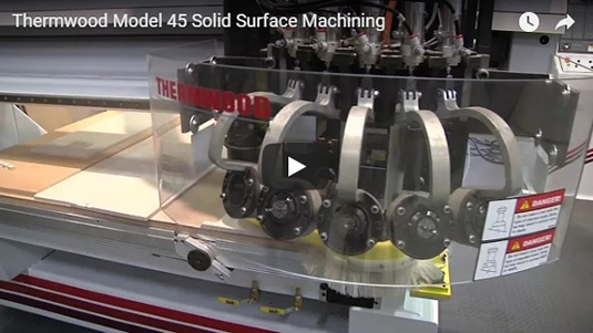 Thermwood Model 45 Solid Surface Machining