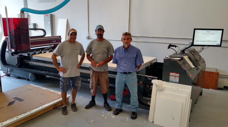 Tim Richardson and the guys at Timberwood Properties with their new Cut Center