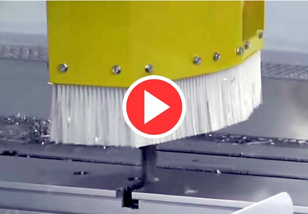Thermwood Model 63 5'x45' CNC Router Machining Aluminum Video