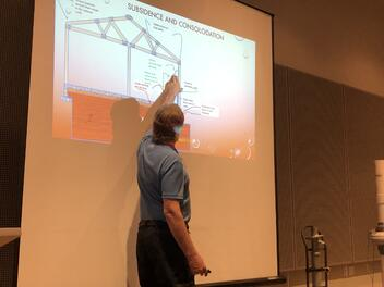 Foundation Expert, Bob Brown, giving a presentation.