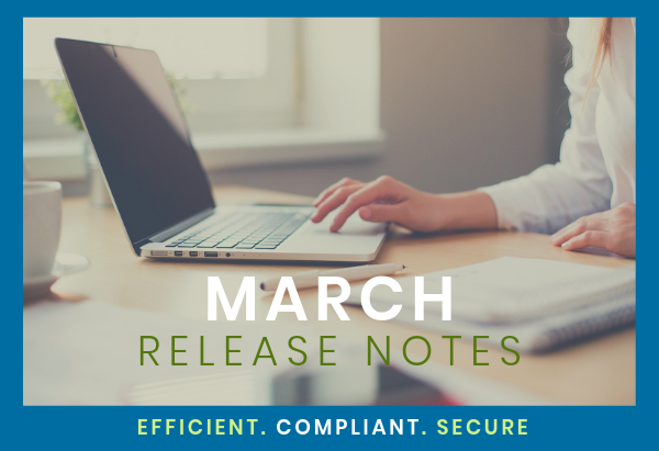 Release Notes Email Hero March