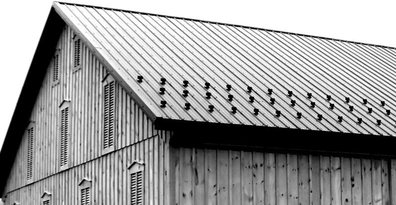 Crickside barn black and white