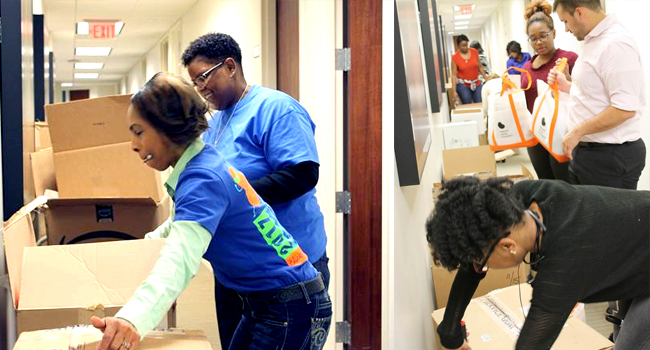 Rain, Sleet or Snow, LogistiCare delivers! Employees Deliver 500 Care Packages to Dialysis Patients