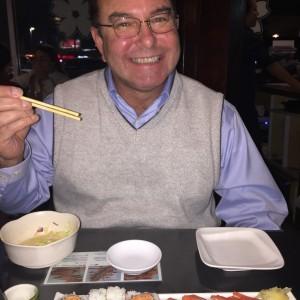 Ed and sushi