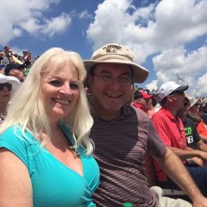 Ed and wife at the races